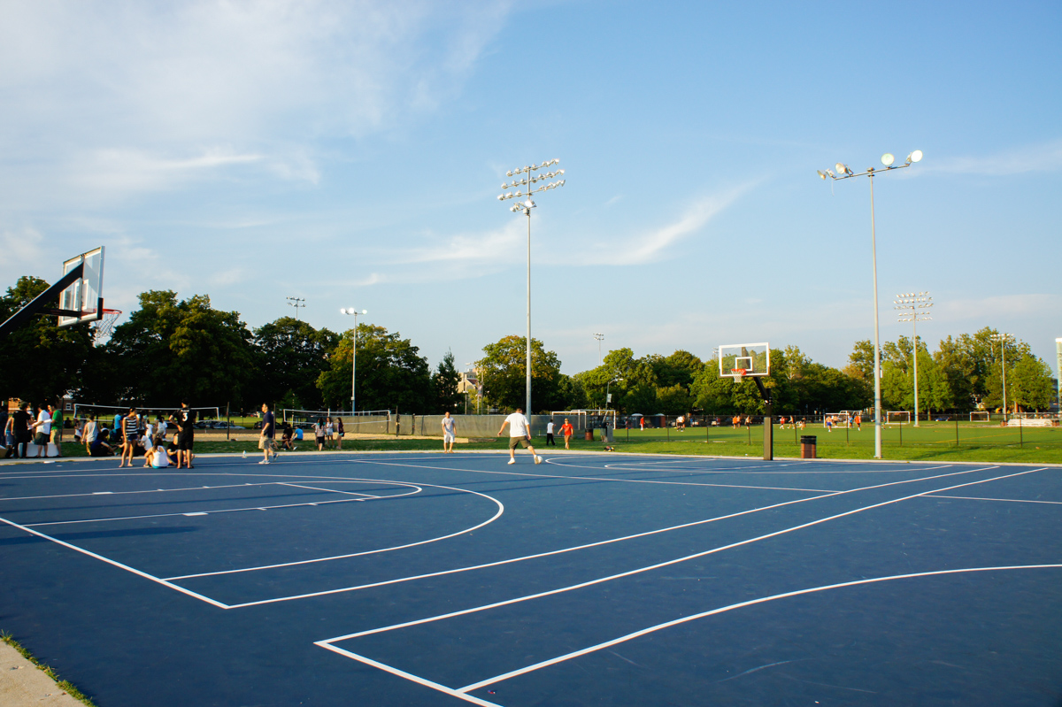 Outdoor Center Basketball Courts