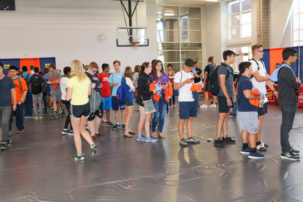 Students at the 2017 Illini Frenzy.