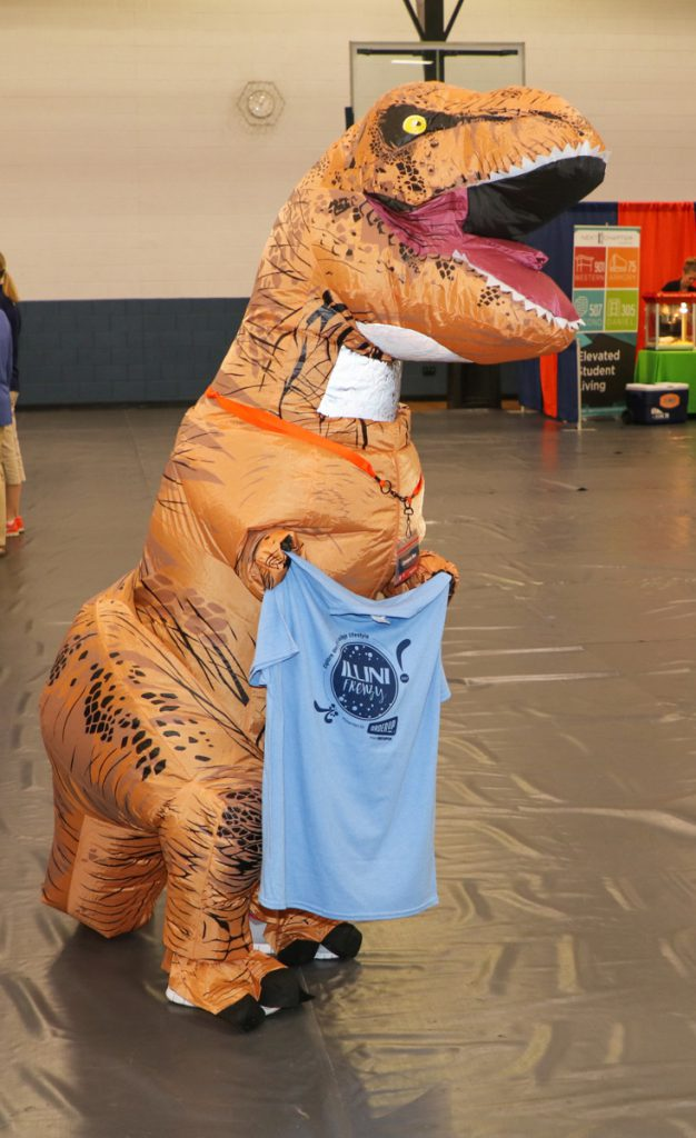Campus Rex at the 2017 Illini Frenzy.