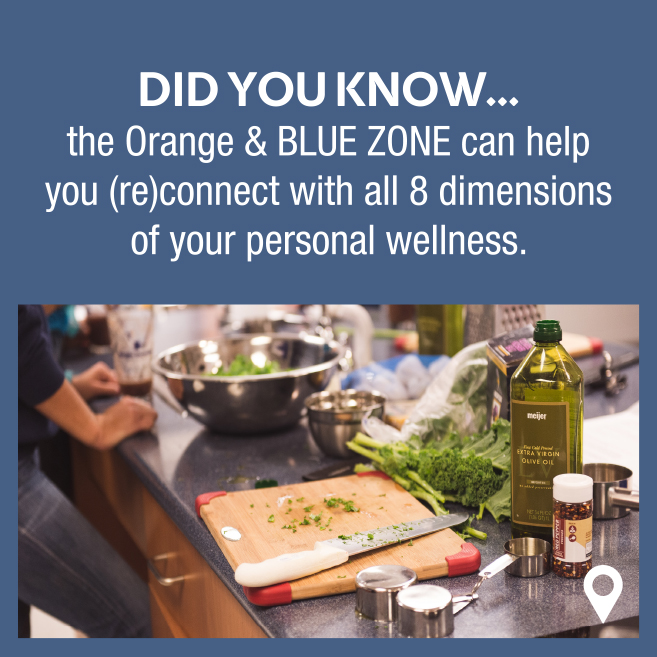 Fall 2018 Orange and Blue zone Wellness Poster