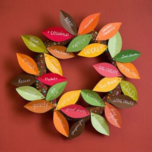 Wellness Workshop What Are We Thankful for Wreaths